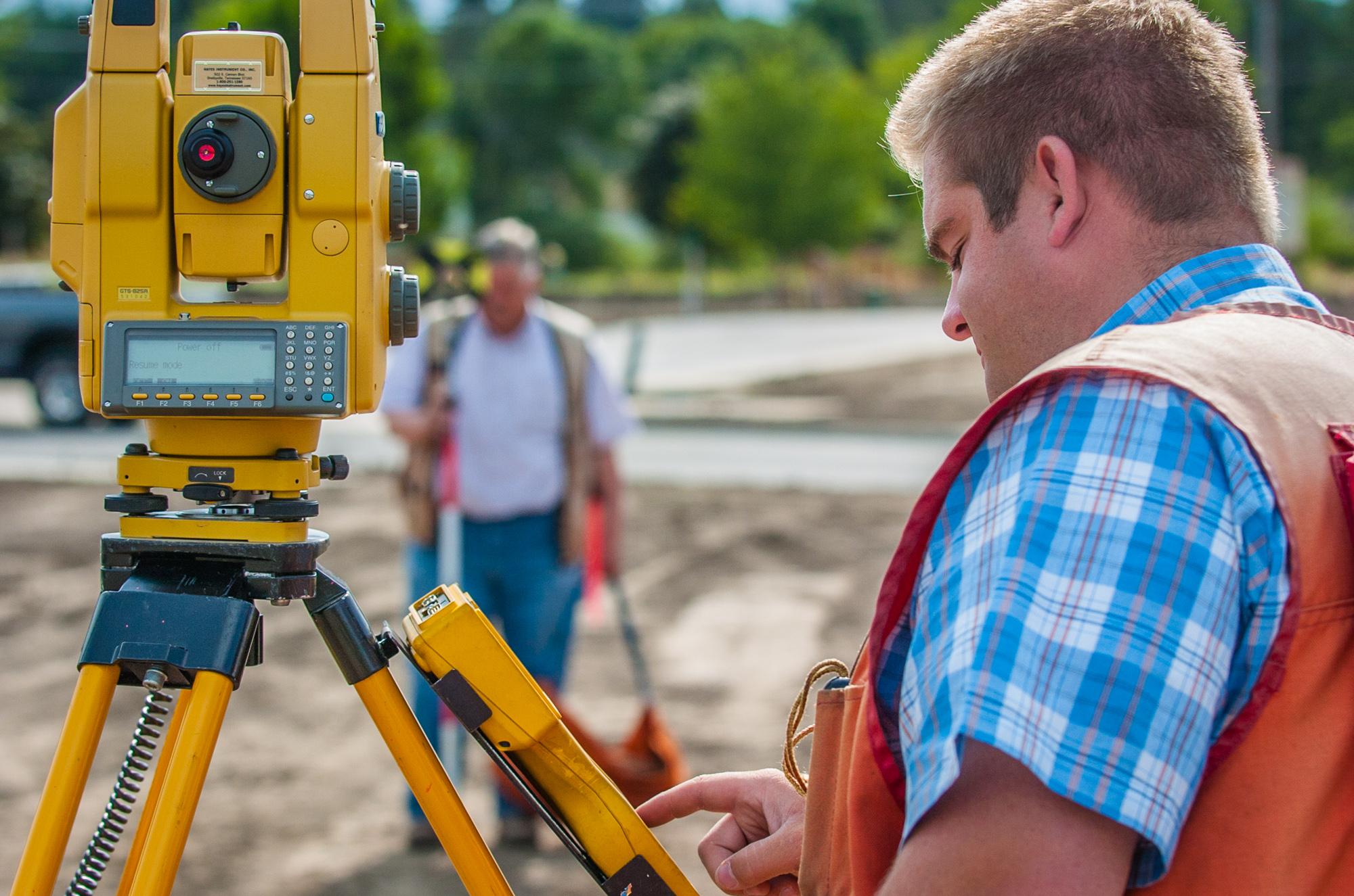 Surveying work in Corvallis