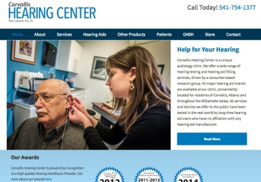 Corvallis Hearing Center website in Corvallis, Oregon