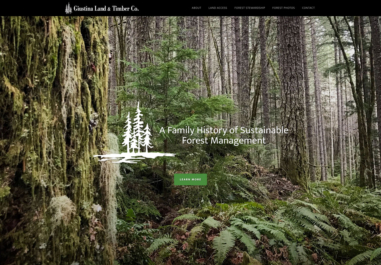 Giustina Land and Timber in Eugene, Oregon website