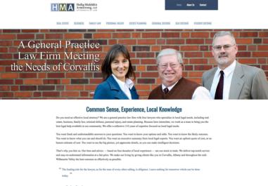 Heilig, Misfeldt & Armstrong, Attorneys website in Corvallis, Oregon