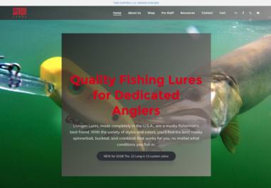 Llungen Lures eCommerce Website