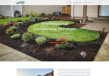 MnD Landscape Services Albany, Oregon Website