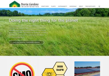 Peoria Gardens in Albany, Oregon Website