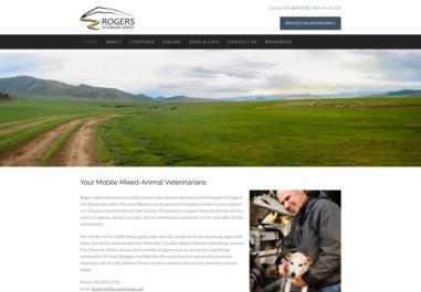 Rogers Mobile Vet Service in Philomath, Oregon website