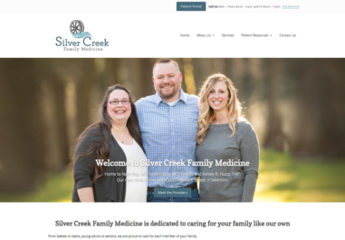 Silver Creek Family Medicine Website in Silver Falls, Oregon