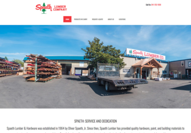 Spaeth Lumber website in Corvallis, Philomath and Lebanon, Oregon