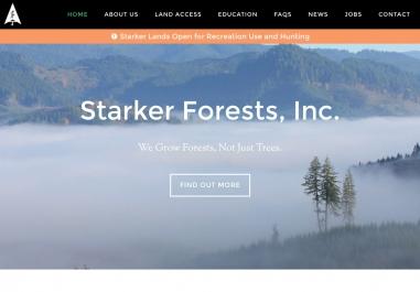Starker Forests, Inc., website in Corvallis, Oregon