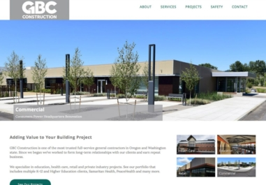GBC Construction Website in Corvallis, Oregon