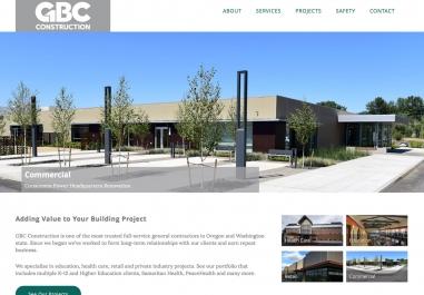 GBC Construction Website in Corvallis, Oregon