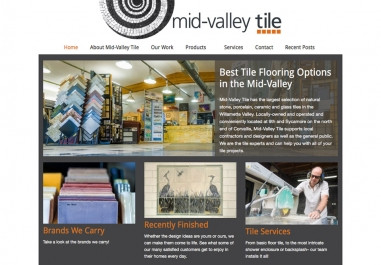 Mid-Valley Tile website in Corvallis, Oregon