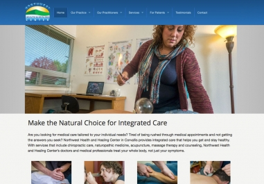 Northwest Health and Healing website in Corvallis, Oregon