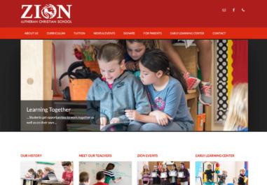 Zion Private School website in Corvallis, Oregon